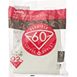 Hario VCF-02-100W Coffee Paper Filter, Natural White