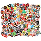 FNGEEN 105pcs Random Stickers Pack for Laptop, Skateboard Stickers, Cool Vinyl Waterproof Stickers for Adult Teens, Decals fo