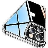 CASEKOO iPhone 12 Pro 用 ケース iPhone 12 用 ケース クリア 黄変防止 耐衝撃 米軍MIL規格 耐久 高透明 SGS認証 カバー ストラップホール付き ワイヤレス充電対応 2021年 アイフォン 12/12Pro 用