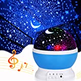 Music Star Projector Night Lights for Kids, Christmas Gifts for 2-5-6-12 Year Old Boys, Projection Lamp for Kids Bedroom,Chri