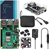 Vilros Raspberry Pi 4 Basic Kit with Clear Transparent Fan Cooled Case (8GB)