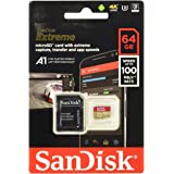 SanDisk Extreme 64GB microSDXC UHS-3 Card - SDSQXAF-064G-GN6MA [Newest Version]