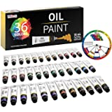 U.S. Art Supply Professional 36 Color Set of Art Oil Paint in Large 18ml Tubes - Rich Vivid Colors for Artists, Students, Beg