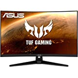 "ASUS TUF Gaming 32"" 2K HDR Curved Monitor (VG32VQ1B) - WQHD (2560 x 1440), 165Hz (Supports 144Hz), 1ms, Extreme Low Motion Bl"