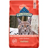Blue Buffalo Wilderness High Protein Grain Free, Natural Adult Indoor Hairball & Weight Control Dry Cat Food, Chicken 11-lb