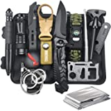 Gifts for Men Dad Husband, Survival Gear and Equipment 12 in 1, Survival Kit, Fishing Hunting Christmas Birthday Gift Ideas f
