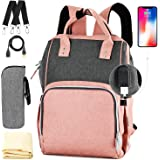 Nappy Bag,Rimposky Large Baby Bag,Multi-Functional Travel Back Pack,Anti-Water Maternity Diaper Bag Backpack Changing Bags wi