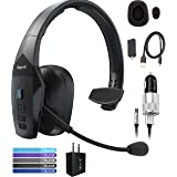 VXI BlueParrott B550-XT Voice Controlled Bluetooth Headset with 96% Noise Cancellation Bundle with Blucoil Micro USB Car Char