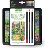 Crayola Blend and Shade Colored Pencils, Professional Style Colored Pencils, Soft Core, 24 Count - 68-2015
