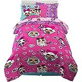 Franco 6A1388 Kids Bedding Super Soft Comforter and Sheet Set with Bonus Sham, 5 Piece Twin Size, LOL Surprise