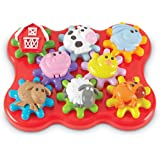 Learning Resources LER9221 Barnyard Friends Build & Spin Play Set (17 Piece),Multicolor