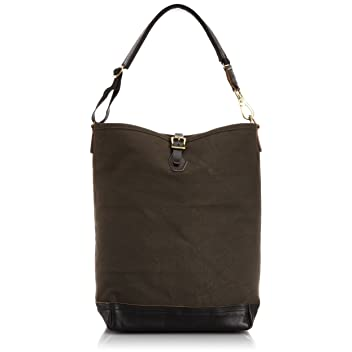 Aging Canvas One Strap Carry All: Black