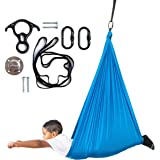 Harkla Indoor Therapy Swing for Kids - Sensory Swing Great for Autism, ADHD, and Sensory Processing Disorder - Snuggle Swing