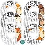 Baby Closet Size Dividers - Woodland Nursery Closet Dividers for Baby Clothes - Fox Deer Bear Hedgehog Beaver Nursery Decor -