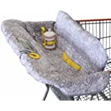 Shopping Trolley Cover for Baby or Toddler - 2-in-1 Highchair Cover - Compact Universal Fit - Modern Unisex Design for Boy or
