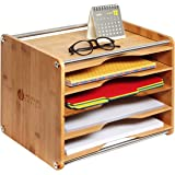 MK388A - Bamboo Document Organizer with 5 Tier (Bamboo- 5 Tier)