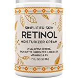 Retinol Moisturizer Cream 2.5% for Face & Eye Area with Vitamin E & Hyaluronic Acid for Anti Aging, Wrinkles & Acne - Best Ni
