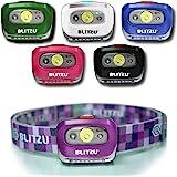 BLITZU Brightest Headlamp Flashlight 165 Lumen with Bright White Cree Led + Red Light for Kids, Men, Women. Perfect for Runni