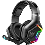ONIKUMA Gaming Headset - [2020 Pre-Release VER] PS4 Headset with 7.1 Surround Sound Pro Noise Canceling Mic Best Gaming Headp