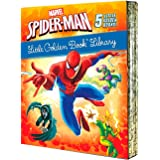 Spider-Man Little Golden Book Library (Marvel): Spider-Man!; Trapped by the Green Goblin; The Big Freeze!; High Voltage!; Nig