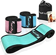 TheFitLife Resistance Bands for Legs and Butt - Fabric Mini Exercise Bands Circle for Booty, Hip, Glute Workout, Anti-Break,