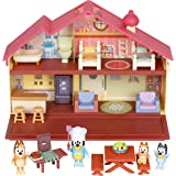 Bluey Mega Bundle Home and Barbecue Toy Set, Bluey's Family Figure 4-Pack, 6-7cm Figures, Home Playset and Bandit's BBQ Plays
