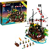 LEGO Ideas Pirates of Barracuda Bay 21322 Building Kit, Cool Pirate Shipwreck Model with Pirate Action Figures for Play and D