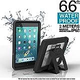 Catalystケース iPad Mini 5 Edition 2019用 フルボディ保護 防水 6.5フィート 落下防止 4フィート キックスタンド付き タッチID 内蔵スクリーンプロテクター付き 子供用iPadケース ステルスブラック