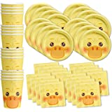 Duck Birthday Party Supplies Set Plates Napkins Cups Tableware Kit for 16