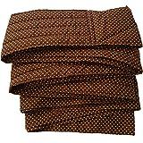 昔ながらのおんぶ紐 一本 紐 サイズL(長さ約5m)ブラウンピンク水玉 収納巾着付き 綿100% 日本製 首がすわった頃から使用可 通気性抜群