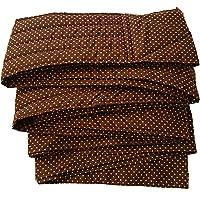 昔ながらのおんぶ紐 一本 紐 サイズL(長さ約5m)ブラウンピンク水玉 収納巾着付き 綿100% 日本製 首がすわった頃…