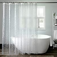 AooHome 90 × 180cm シャワーカーテン 透明 防カビ 防水 バスカーテン バスルーム 浴室 目隠し 間仕…