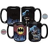 Zak Designs DC Comics Batman Unique Color Changing Ceramic Coffee Mug, Collectible Keepsake and Wonderful Coffee Mug (15oz, B