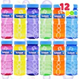 JOYIN 12 4oz Bubble Bottles with Wand Assortment for Kids, Bubble Blower for Bubble Blaster Party Favors, Summer Toy, Birthda