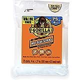 """Gorilla 3027502 Hot Glue Stick Mini Size, 4"""" (75 Piece)"""