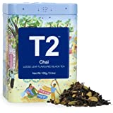 T2 Tea Chai Black Tea, Loose Leaf Black Tea in T2 Icon Tin 2020, 100 g
