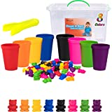 Driddle Colorful Counting Bears with Matching Cups - Sort, Count & Color Recognition Learning Toy for Toddler & Kids - Montes