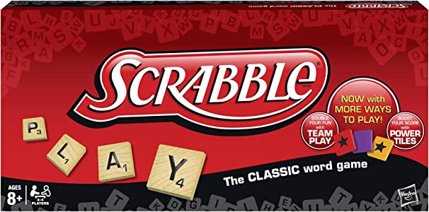 Hasbro Scrabble Crossword Game with Power Tiles