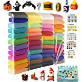 Air Dry Clay 48 Pieces 26.4 Ounce, Modeling Clay 48 Colors, Magic Clay with Tools and Manuals (750 Gram)