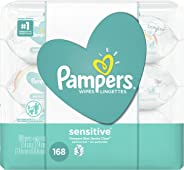 Pampers Sensitive Wipes, Case, 56ct (Pack of 3)