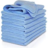 VibraWipe Microfiber Cleaning Cloths, All-Blue Color Pack, 8 Pieces, 14.2 In X 14.2 In. Highly Absorbent, Lint And Streak Fre