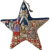 "Enesco Nativity Star Hanging Ornament, 4010627, Multicolor, 4.75"""