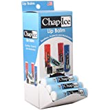 CHAP-ICE | Medicated Lip Balm - For chapped, windburned Lips - Gravity Feed Display - 24 Count