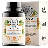 Organic Maca Root Supplement 1200mg - Gelatinized - Fast Superior Absorption - Powerful Peruvian Natural Energizer - Libido,