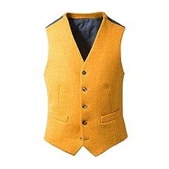 Harris Tweed Waistcoat: Yellow
