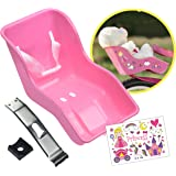 STICKY LIL FINGERS Doll Bike Seat - Doll Carrier - Durable Easy to Install Bike Attachment Accessory for 18 Inch Dolls and St