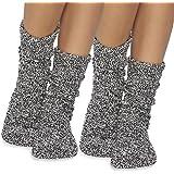 Barefoot Dreams CozyChic Women Heathered Socks, Crew Socks, Plush Socks, Loungewear, Warm Toes, Fuzzy Socks, (Set of 2)