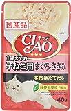 チャオ (CIAO) キャットフード パウチ 1歳までの子猫用 まぐろ・ささみ 40g×16個 (まとめ買い)