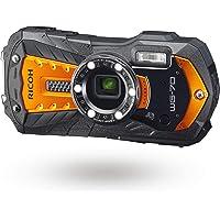 RICOH 03871 WG-70 Orange Ricoh Genuine Waterproof Digital Camera, Waterproof up to 39.8…