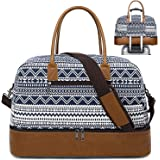 CAMTOP Weekender Bag Women Ladies Travel Overnight Carry On Tote Duffel Bag with Shoes Compartment and Luggage Sleeve (866D-B
